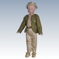 "11"" Heubach little boy all original"