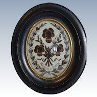 French Napoléon 3 hair art souvenir from Léontine