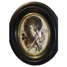 French hair art souvenir 1860/1870