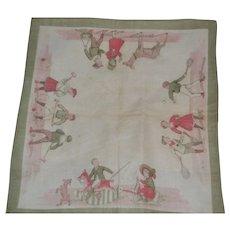 Rare and perfect condition  child's handkerchief 1910/1915
