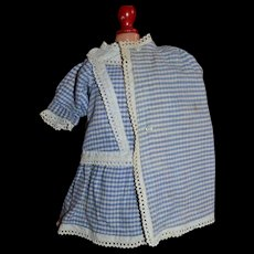 Tailored doll'2 pieces costume with  Cape and dress 1890/1900