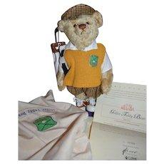 Pristine STEIFF Golfer teddy bear