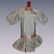 Beautiful silk and lace dress for your antique bebe