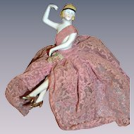 Charming art deco half doll with arms away from Paris  modernes poupées