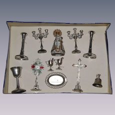 Religious toys for doll's altar or church 1880/1900