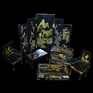 Chinese lacquer doll's house furniture