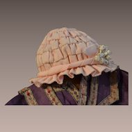 French  antique ribbon hat from Bleuette pattern