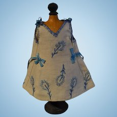Lovely apron dress for cabinet size doll