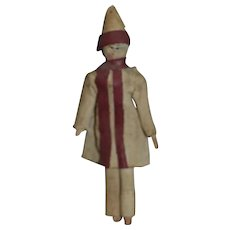 Charming 1830/1860 peg wooden doll for you dollhouse - Red Tag Sale Item