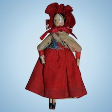 Lovely Grodnertal doll from Germany 1840/1860 for your dollhouse