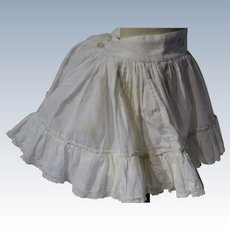 Amazing petticoat for jumeau bebe and for a fabulous dress