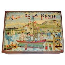 Fabulous fishing game by Saussine 1900 Paris