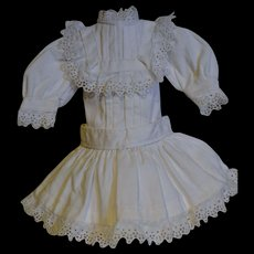 Beautiful white dress for your Jumeau circa 1890/1900