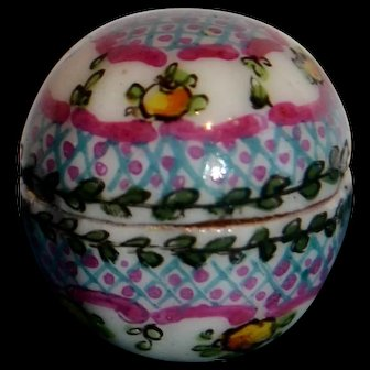 Gabriel Fourmaintraux RARE covered piece little box all hand painted decors