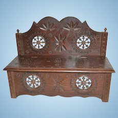 Lovely French brittany bench for your doll
