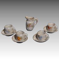 Tea set in german porcelain circa 1900