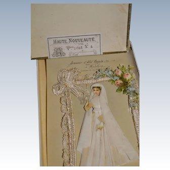 1890/1900 French celluloid card souvenir first communion