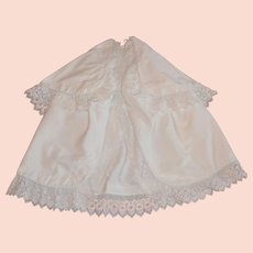 French rare antique winter christening cape and coat