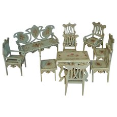 Rare art nouveau style parlor set from Paul Leonardt