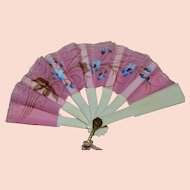 Original antique fan for fashion doll