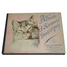 Lithograph album with animals for child, 1900