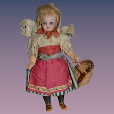 Wonderful german mignonette for the French Market  with an outstanding outfit