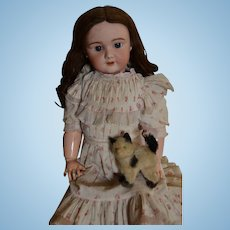 "Tete Jumeau SFBJ 301 French bebe all original 27"" tall"