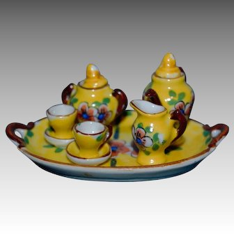 Charming 1910 Limoges miniature  set for doll's house