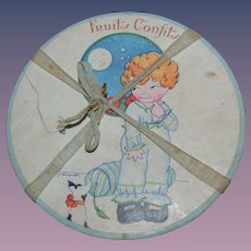 Lovely 1920 candy box , witha nice cover lithograph