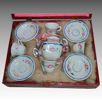 Tea set for doll souvenir universal exhibition 1889
