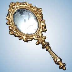 Miniature hand mirror for your little doll
