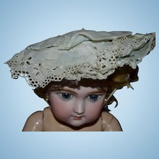 Charming antique bonnet for your French BEBE
