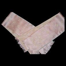 Delicious pink damasked ribbon CIRCA 1920