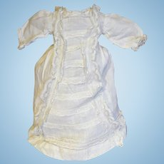 1880 Antique nice wax doll or little bebe gown
