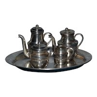 Wonderful sterling silver tea set for your doll's house