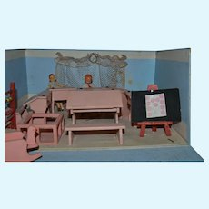 From France little classroom for your tiny doll