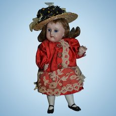 Lovely all bisque doll circa 1900