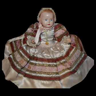 Le minor French celluloid brittany baby in rare size