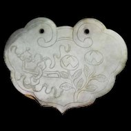 Rare superb Chinese jade carving plaque, Qing Dynasty