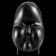 Rare Japanese wooden Noh mask, 17th.-18th. century!