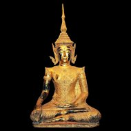 A Lifesize Thai bronze Buddha, Bangkok style, late 19th. century