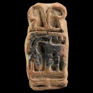 Interesting large clay Egyptian amulet seal w. cartouche!
