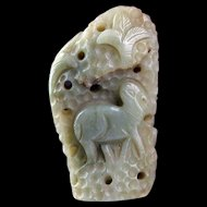 Fine Chinese Jade Nephrite carving of boulder Qing Dynasty