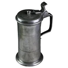 A fine British Pewter tankard or stein mug!