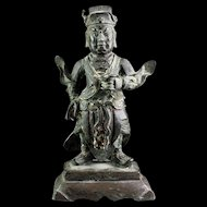 Wonderful Chinese bronze Guardian figure, Ming Dynasty 16th.-17th. century