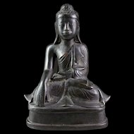 Fine Burmese bronze Buddha in Mandaley style, 19th. century.
