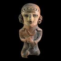 Rare large Pre-Columbian  Mexico pottery figure, 2000+ years old