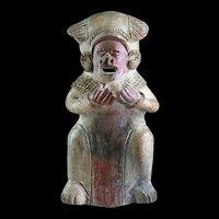 Rare Pre-Columbian pottery shaman figure, likely Colima!