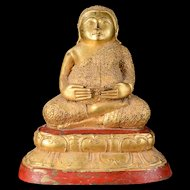 High Quality Gilt Thai bronze fat & happy Buddha, 19th. century