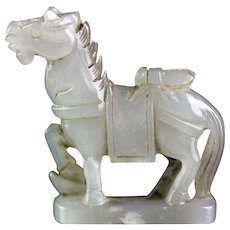 Beautiful Chinese Nephrite Jade pendant of a Horse!
